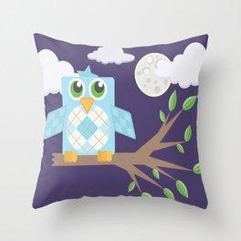Nighttime Owl Throw Pillow