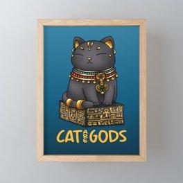 Egypt Cat God Bastet - Cat are Gods Framed Mini Art Print