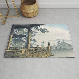 Hasui Kawase, Sunset At Nigatsudo, Nara - Vintage Japanese Woodblock Print Art Rug
