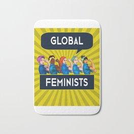 Global Feminists Women Girls design Rosie Riveter Design Bath Mat