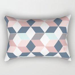 Starry cubes pattern Rectangular Pillow