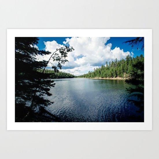 Bear Canyon Lake Art Print