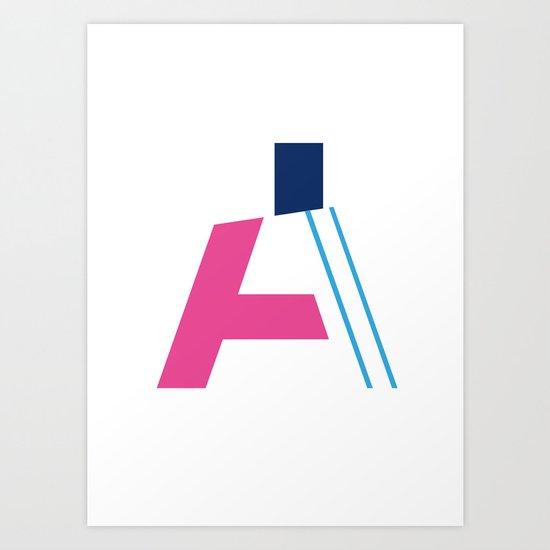 "PLAY Typography ""A"" Art Print"