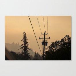 Yellow Mountain Haze Canvas Print
