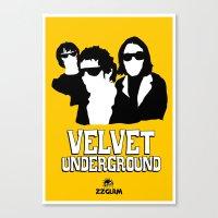 velvet underground Canvas Prints featuring VELVET UNDERGROUND Y by zzglam
