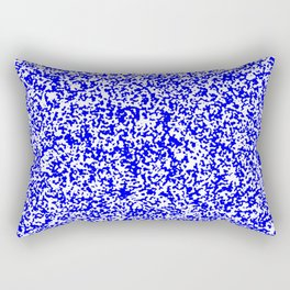 Tiny Spots - White and Blue Rectangular Pillow