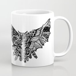 Dragon Owl (BW) Coffee Mug
