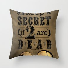 Benjamin Franklin Illustrated Quote Throw Pillow