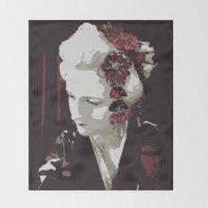the fair-haired geisha Throw Blanket