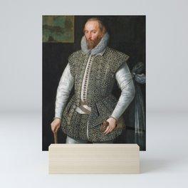 Sir Walter Raleigh Portrait - William Segar Mini Art Print