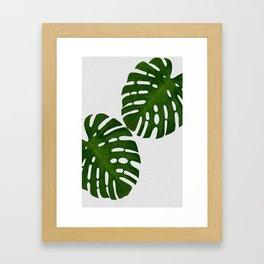 Monstera Leaf II Framed Art Print