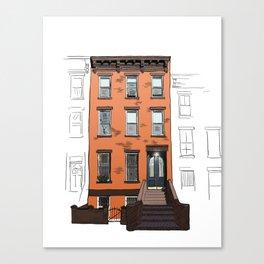 Brooklyn Brownstone Canvas Print