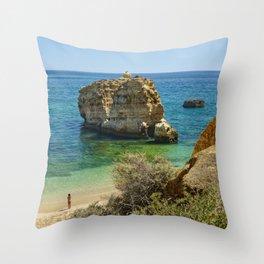 Algarve rock Throw Pillow