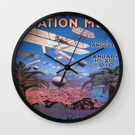 Vintage poster - Aviation Meet Wall Clock