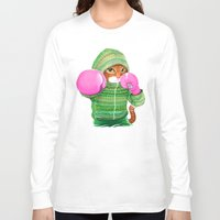 jazzberry Long Sleeve T-shirts featuring BOXING CAT 4 by Tummeow