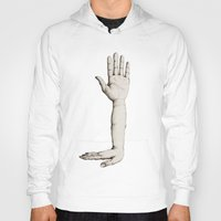 hands Hoodies featuring Hands by Bwiselizzy