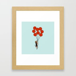 I Believe I Can Fly Beagle Framed Art Print