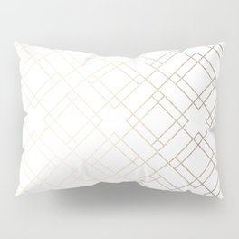 Simply Mod Diamond White Gold Sands on White Pillow Sham