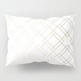 Simply Mod Diamond White Gold Sands on White Pillow Sham