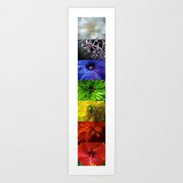 chakra flowers Art Print