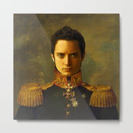 Elijah Wood - replaceface Metal Print
