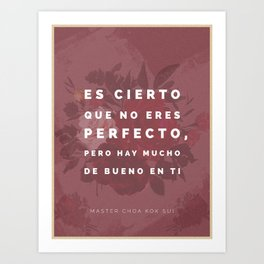 You Are Not Perfect (Spanish) Art Print