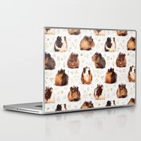 guinea pig Laptop & iPad Skins featuring The Essential Guinea Pig by micklyn