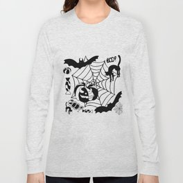 Halloween themed illustratio Long Sleeve T-shirt