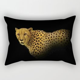 Cheetah Disappearing into Black Velvet Rectangular Pillow