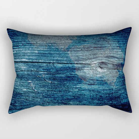 Old painted wood . Rectangular Pillow