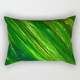 Green Strips by Gabriele Müller Rectangular Pillow