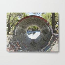 Skatepark - Full Pipe Metal Print