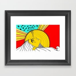 sad mornings Framed Art Print