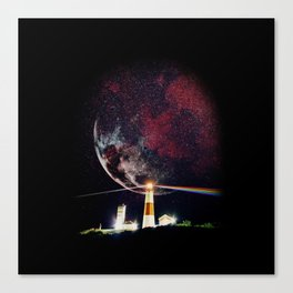 The Dark Side of - Pop Culture Collage  Canvas Print