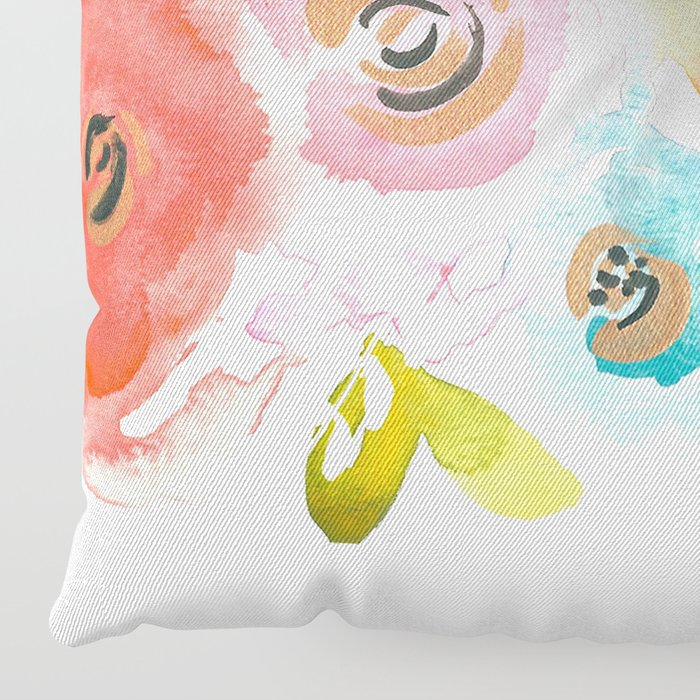 Floral POP #2 Floor Pillow