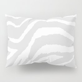 ZEBRA GRAY AND WHITE ANIMAL PRINT Pillow Sham