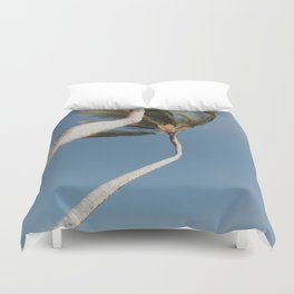 Crooked Palm Trees Duvet Cover