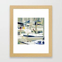 Harbour in the Bretagne Framed Art Print