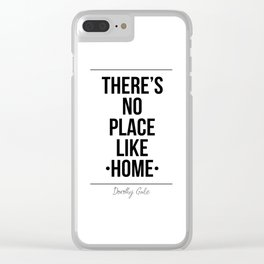 There's No Place Like Home Printable Wall Clear iPhone Case