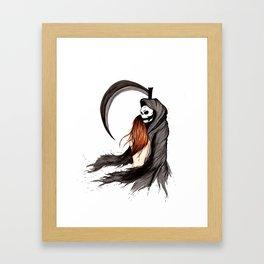 Flirts with the Reaper Framed Art Print