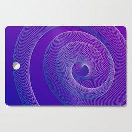 Spiral helix 3d illustration Cutting Board