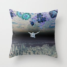A Skydiver Between Two Parallel Universes Throw Pillow
