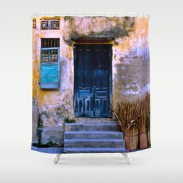 Chinese Facade of Hoi An in Vietnam Shower Curtain