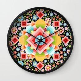 Geometric Chintz Mandala Wall Clock