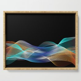 Colored lines Serving Tray