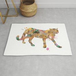 Cougar Watercolor Painting Rug