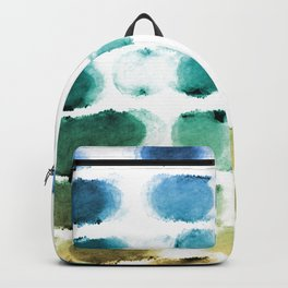 On the Beach Watercolor Painting Abstraction Backpack
