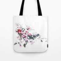 china Tote Bags featuring China by tatiana-teni