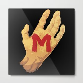 The Hand and the Murderer Metal Print