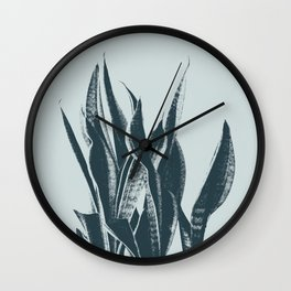 Long Leaves of The Green Plant #decor #society6 #buyart Wall Clock